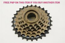 SHIMANO 14-28 TEETH 6 SPEED INDEX FREEWHEEL/BLOCK/SCREW ON CASSETTE MTB ATB BIKE