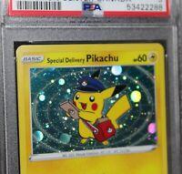 2020 SWSH074 Special Delivery Pikachu Pokemon Center Canada Promo PSA 9 - MINT