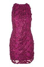 Topshop Leaf Applique Mini Dress Size UK 16 Purple DH076 MM 12