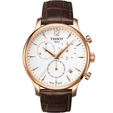 Tissot T-Classic Tradition Mens Chronograph Rose Gold Watch T063.617.36.037.00