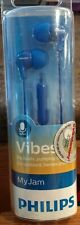 New Philips Vibes My Jam In-Ear Headphones Earbuds Earphones with Mic blue