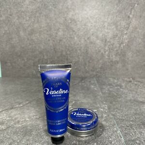 (Lot of 2) Vaseline Limited Edition 150 Year Vintage Lip Balm & Hand Cream