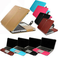 PU Leather Book Back Cover Sleeve Case Skin For Macbook AIR 11/ PRO 13 15 Retina