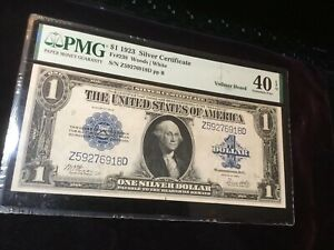 1923 Large Size Silver Certificate PMG 40 EF Fr.238 Nice Note See Photos!