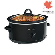 Crock-Pot Manual 7 Qt Oval Slow Cooker Black 🇨🇦 FAST & FREE