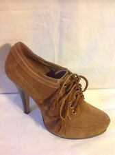 Miss Selfridge Brown Ankle Suede Boots Size 6