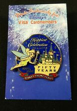 Disney Pin 38337 Tinker Bell Visa Cardmember Excl Happiest Celebration 50 Years