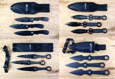 """New Ultimate Ninja Throwing Knife 4 x Sets 8"""" 9.5"""" 12"""" 15"""" = 12 knives package"""
