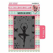 Uchi's Design Animation Clear Card Craft Decorative Stamps - Ballerina