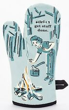 Blue Q Funny Novelty Oven Mitt, B****es Get Stuff Done, Blue, New