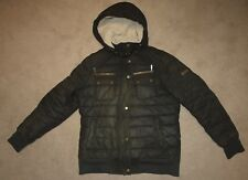 Barbour International INVERGARRY Waxed Jacket in Olive - UK Size 14 [2538]