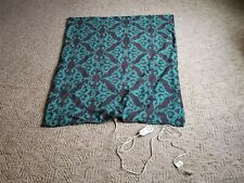Black and Turquoise Sunbeam Heated Fleece Throw Blanket With Remote