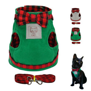 Escape Proof Cat Harness with Leash Kitten Cat Walking Jackets Vest for Pets S-L