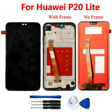 For Huawei P20 Lite LCD Display Touch Screen Digitizer Assembly Kits w/ Frame