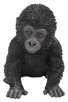 Gorilla Baby - Lifelike Ornament Gift - Indoor or Outdoor - Zoo Pet Pals NEW