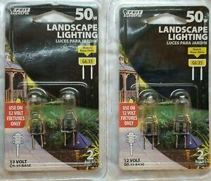4 FEIT Electric 50-Watt 12 Volt  G6.35 Base  BI-PIN Landscape Light Bulbs  NEW
