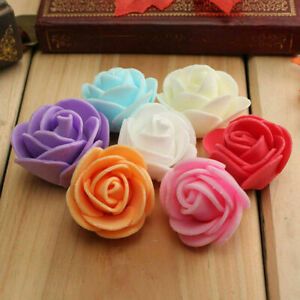 QUALITY 3 cm Mini Artificial ROSE FLOWER HEADS For Weddings Craft Decorations UK