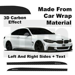 3D Carbon Side Skirt Sticker Vinyl For BMW 4 Series f32 f33 f36 M PERFORMANCE