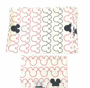 Disney Mickey Mouse Kids 2 Pieces Twin Sheet Includes Flat Sheet & 1 Pillow Case