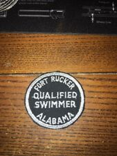 """Rare Fort Rucker Alabama Qualified Swimmer  Patch 1970s 2.5"""""""
