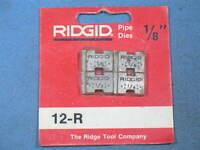 """Genuine RIDGID 1/8"""" Pipe Dies for 12-R 00-R 111-R 0-R 11-R Threaders NOS"""