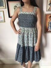 Gorgeous 1970s Vintage Pure Cotton Tiered Sundress By St Michael