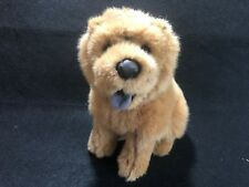Chow Plush Brown Puppy Dog Stuffed Animal Panting Tongue Heartfelt 10""