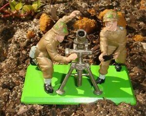 Vintage 1971 Britains deetail WWII British mortar & crew
