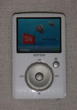 SanDisk Sansa Fuze (4GB) Digital Media MP3 Player White. Works great, good cond