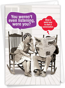NobleWorks - Funny Anniversary Greeting Card - Romantic Spouse Humor, Married -