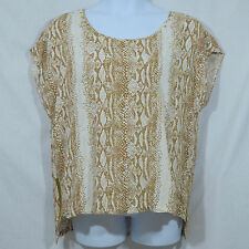 Women's Plus 2X WD.NY Sexy Snakeskin High Low Chic Zip Sides Tunic Top