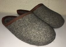 Vtg Mens Gray Wool Warm Military? Slippers SEE PICTURES/DESCRIPTION
