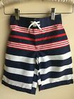 NWT Gymboree boy size 4T FOURTH OF JULY RED Striped Swim Trunks Swimsuit  Shorts
