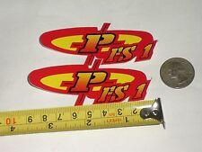 Old mid school NOS Powerlite FS1 BMX decal sticker  freestyle frame bike pair