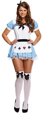 Ladies Adult Alice In Wonderland Sexy Fancy Dress Womens Costume Hen Theme Party