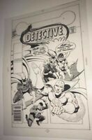 Batman Batgirl Robin Detective Comics Jim Aparo Cover Production Art acetate