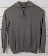 Casa Moda Brown Pima Cotton 1/3 Zip Sweater w/Collar, Mens U.S. Size XXL EUC
