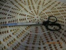 Vintage Clauss  #3760 10 inch Tailor Scissors with Black Handle Made in USA