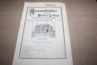September 1904 Monatsblatter Bethel College Newton Kansas KS Monthly News Sheets