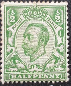 DUZIK: GB KGV SG339 1/2d. green unused stamp (No2009)**
