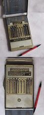 ANTIQUE GERMAN MECHANICAL CALCULATOR SLIDE ADDER / ADDIATOR CREDIT / DEBET