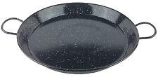 "Vtg Black Speckled Round Enamelware Graniteware 2-Handled 14"" Serving Tray"