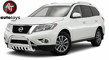ATU Stainless Bull Bar Brush Bumper Guard [Fits: 2013-2017 Nissan Pathfinder ]