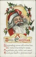 Christma - Santa Claus & Poem #509 c1910 Postcard