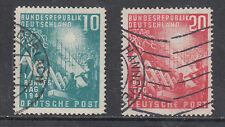 Germany Sc 665-666 used 1949 Reconstruction, cplt postally used set, F-VF