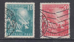 Germany Sc 665-666 used 1949 Reconstruction, cplt postally used set, F-VF