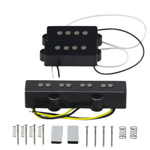 NEW PJ Bass Bass Pickup Set Alnico 5 PB JB Pickups for 4-String Precision Bass
