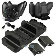 Dual Charging Dock Controllers Charger + 2x Rechargeable Batteries For Xbox One