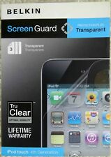 Belkin Apple iPod Touch 4th Generation 2010 Screen Guard Protector Overlay x 3