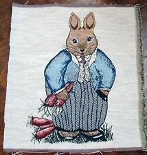 "1 Darling ""Peter Rabbit Tapestry"" Pillow Top Crafting Fabric Panel"